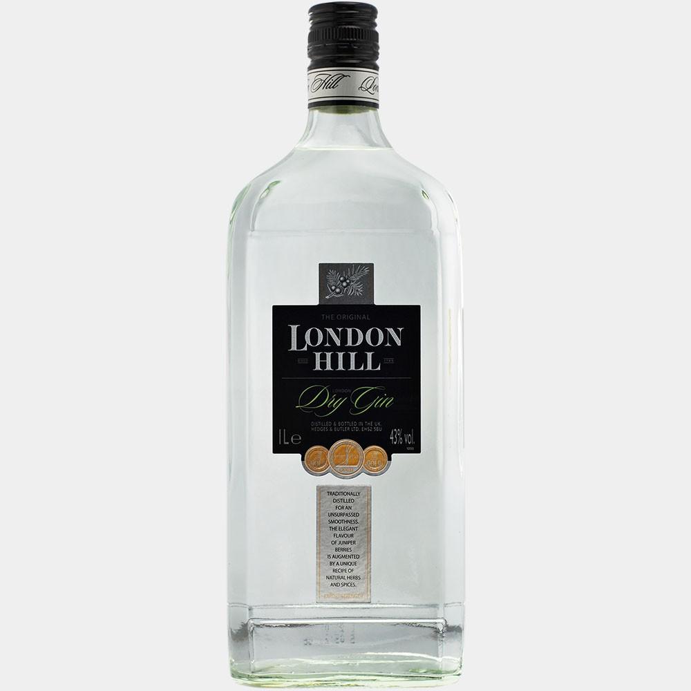 London Hill Dry Gin 1L 43% Alk.