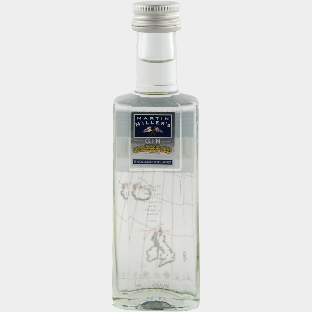 Martin Millers Dry Gin (Miniature) 0.05L 40% Alk.