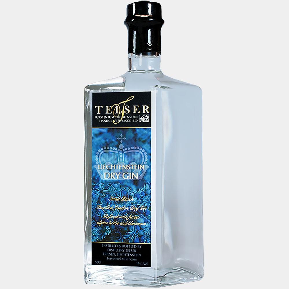Telser Liechtenstein Dry Gin  0.5L 47% Alk.