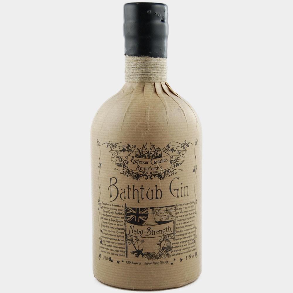 Ampleforth Bathtub Gin Navystrength 57% Alk.