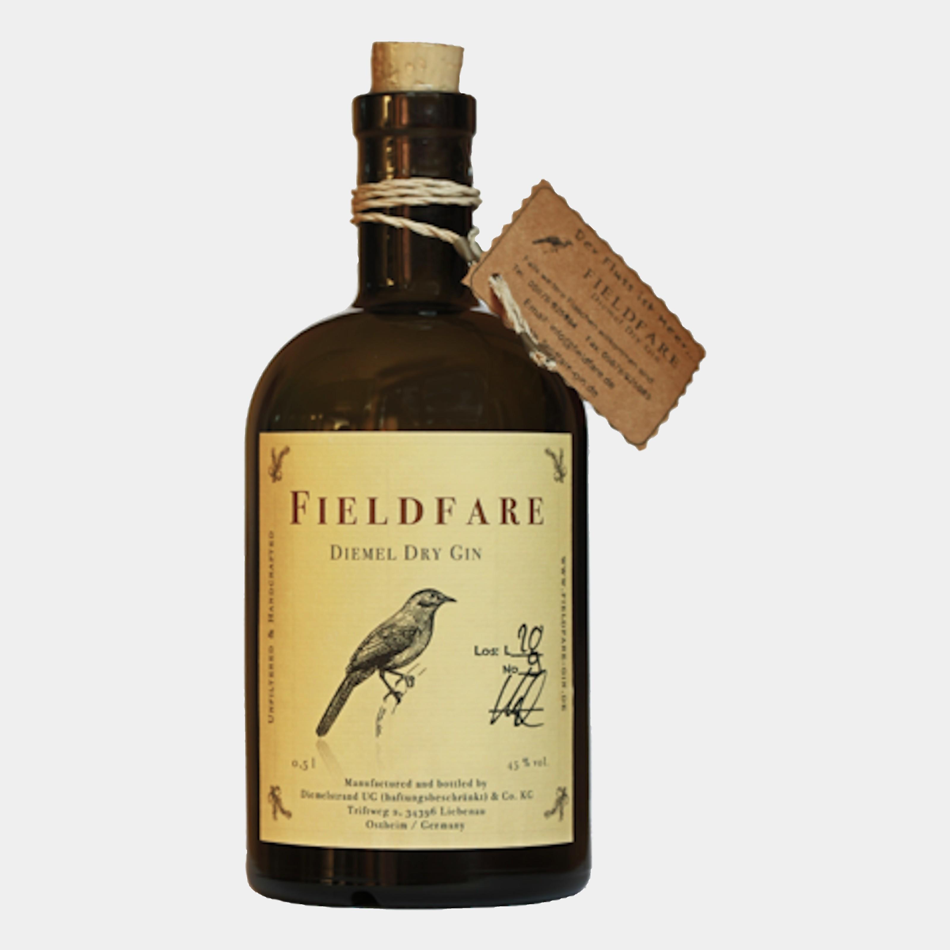 Fieldfare Diemel Dry Gin 0.5L 45% Alk.