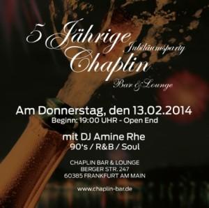 5 Jahre Chaplin Bar & Lounge Frankfurt