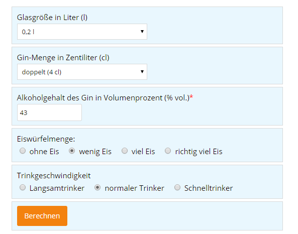 Screenshot Blitzrechner