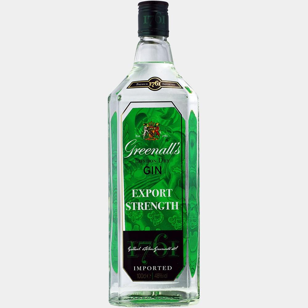 Greenall's London Dry Gin Export Strength 1L 48% Alk.