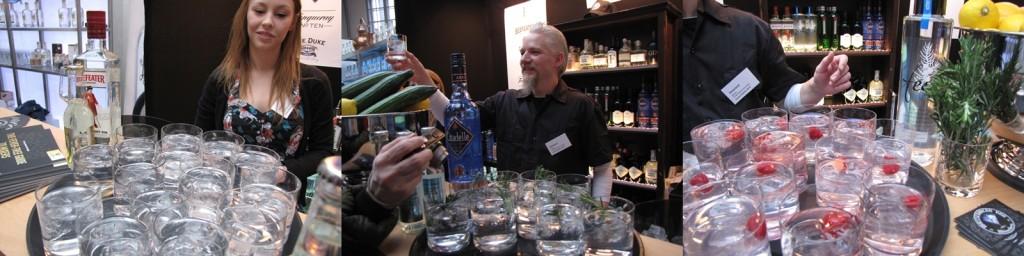 """Gin & Tonic auf der Finest Spirits 2014 mit dem Leitthema """"Home bar"""""""